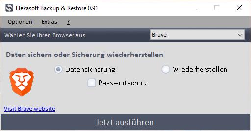 Hekasoft Backup & Restore 0.91 Bild